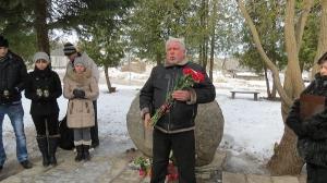 Komunistiskā genocīda upuru piemiņas dienas pasākums pie piemiņas akmens (25.03.2013)